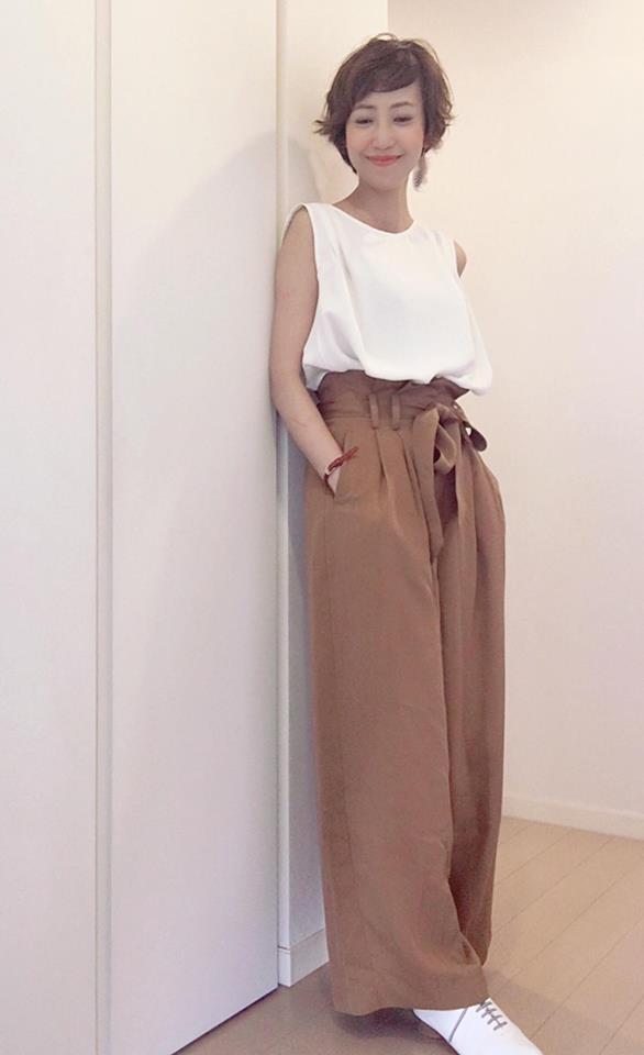 小柄小さいサイズのワイドパンツを綺麗に着こなすポイント