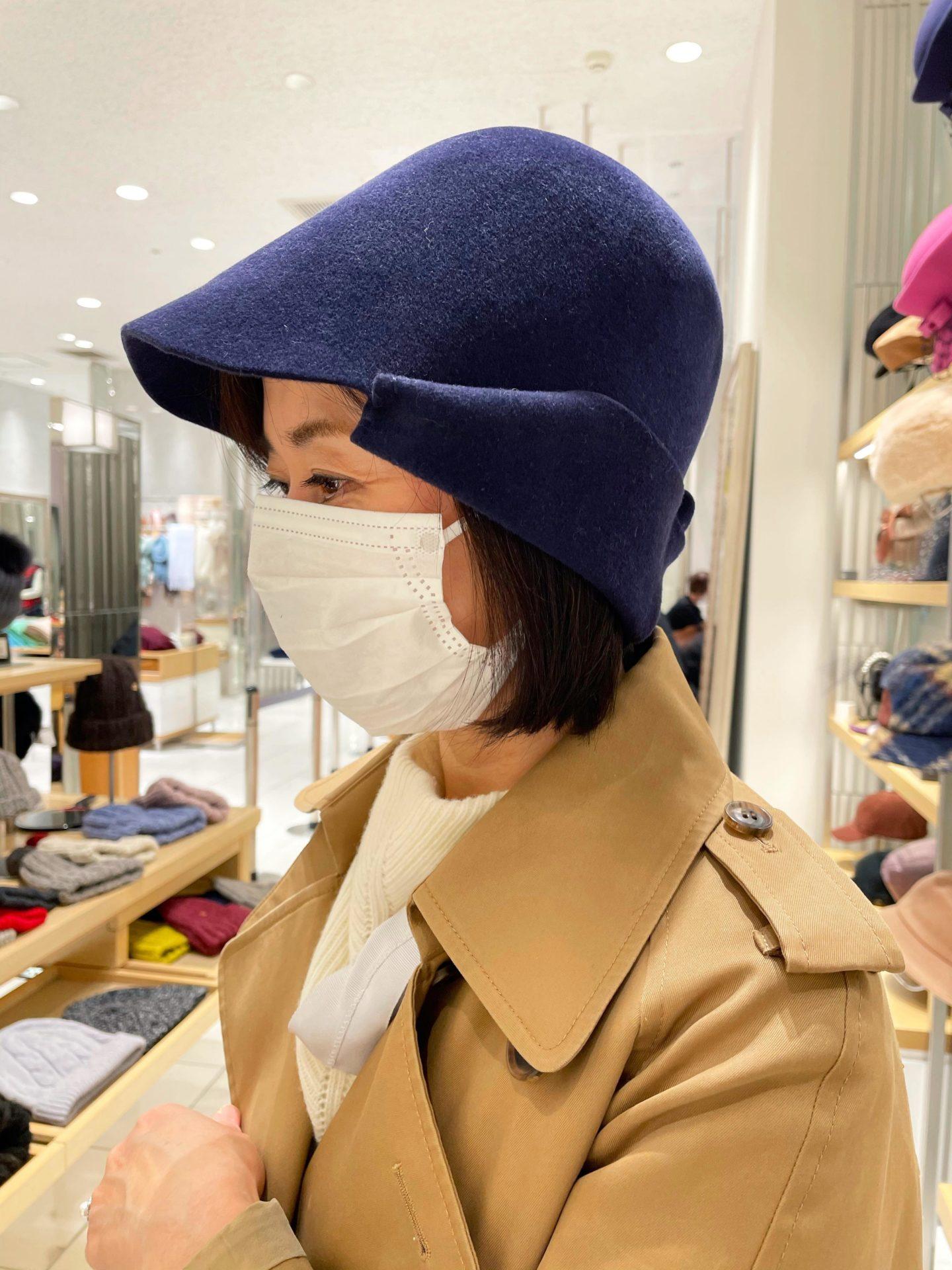 顔タイプソフトエレガントさんの買い物同行帽子・デニム・スポーツウェア