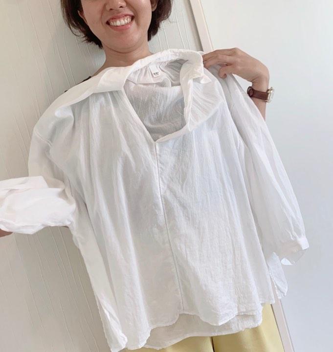 顔タイプキュートさんが似合うシャツテイスト比較!!①